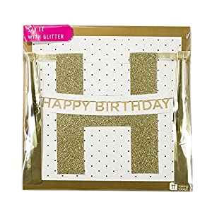 Talking Tables Say It with 'Happy Birthday' Glitter Banner, 3.5m, Multicolor from Talking Tables