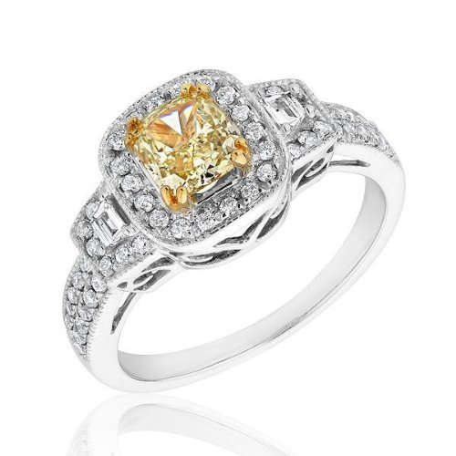 Canary Yellow Diamond Engagement Rings Prices