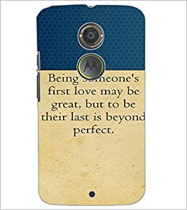PrintDhaba Quote D-2646 Back Case Cover for MOTOROLA MOTO X2 (Multi-Coloured)