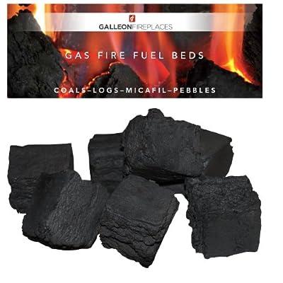 10 Medium Gas Fire Coals Top Quality Grate Glow