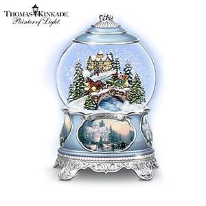 #!Cheap Thomas Kinkade Jingle Bells Christmas Musical Snowglobe by The Bradford Exchange