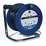 Masterplug LDCC2513/4BL Open Cable Reel with Thermal Cut-Out and Reset Button, 25 m 13 A 4 Socket