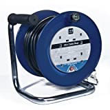Masterplug LDCC2513/4BL 25m 4 Socket 13 Amp Open Cable Reel with Thermal Cut Out and Reset Button