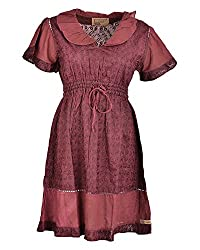 Beautiful Clothes Women's Regular Fit Dress(BCS 29_M,Red,M )