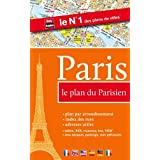 Paris, le plan du Parisien (métro, RER, tramway, stations Vélib', index des rues, sens uniques, parkings)