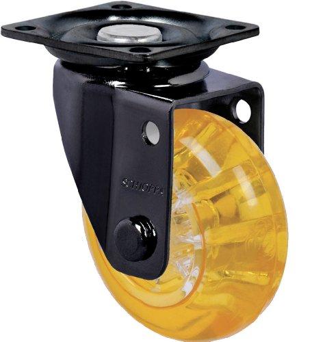"Schioppa, Glap 210 Gel Orange-Br, 2"" (50 Mm) Swivel Non-Brake Caster, Non-Marking Polyurethane Whl, 90 Lbs, Tp: 1-21/32 X 1-21/32"" (Bh 1-1/4 X 1-1/4"") front-608180"