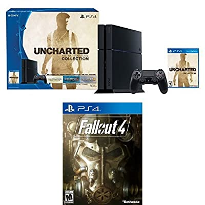 500GB PlayStation 4 Console - Uncharted: The Nathan Drake Collection Bundle with Fallout 4