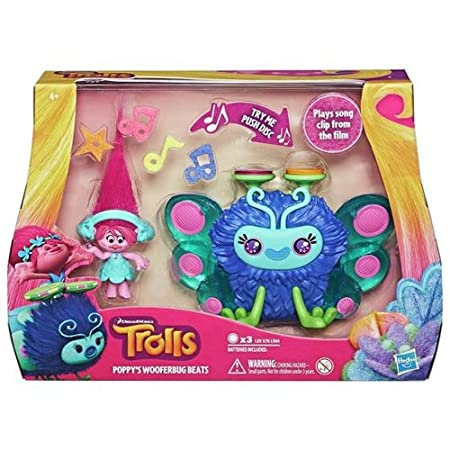 Dreamworks – Les Trolls – Poppy's Wooferbug Beats – Figurine Musicale Version Anglaise