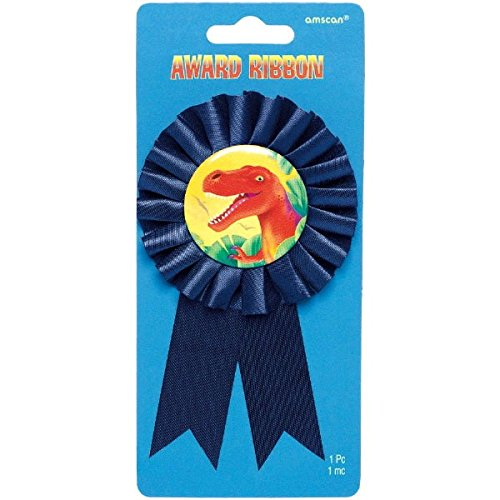 "Amscan Prehistoric Party Favor Award Ribbon, 7 x 3.3"", Multi"