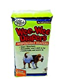 Four Paws Wee-Wee Disposable Doggie Diapers, Small,12-Pack