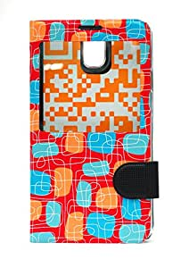 Fonokase Flip Caller Id Fancy Series Case For Samsung Note 3 - Red - A