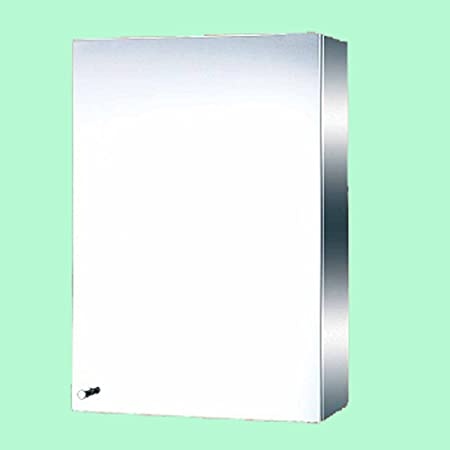 "Stainless Steel Medicine Cabinet Mirror Wall Mount 19-3/4"" H X 13-3/4"" W Three Shelves With Removable Middle Opens Right"