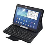 Koolertron Removable Wireless Bluetooth Keyboard Leather Case Cover for Samsung Galaxy Tab 3 10.1 P5200 P5210 and Tab 4 10.1 T530/T531/T535
