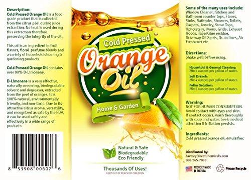 Pure Cold Pressed Orange Oil Concentrate 32 Oz D