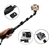 AE (TM) YUNTENG YT 1288 Self-portrait Monopod With Bluetooth Remote Selfie Stick Monopod For Camera And IPhone, Smartphones With Bluetooth Remote Shutter Black