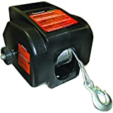 Keeper KWSL2000RM 12V DC Rapid Mount Portable Winch with Handheld Remote - 6000 lbs. Load Capacity