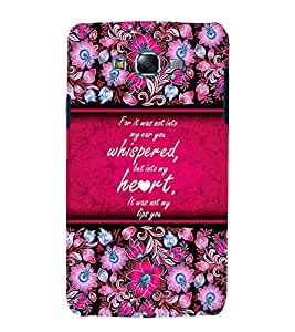 Beautiful Love Quote 3D Hard Polycarbonate Designer Back Case Cover for Samsung Galaxy J5 (2015) :: Samsung Galaxy J5 J500F (Old Version)