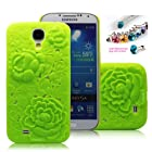 Cocoz®fukki Fluorescent Green Peony Carved Palace Fashion Design Samsung Galaxy S4 I9500 Hard Case Cover Skin Retail Packing(pc) -H012