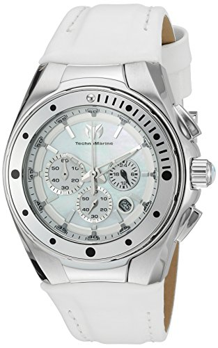 technomarine-womens-quartz-watch-with-white-dial-chronograph-display-and-white-leather-strap-tm-2150