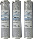 "Reverse Osmosis System 10"" Carbon Block Water Filter Cartridges (Box of 3)"