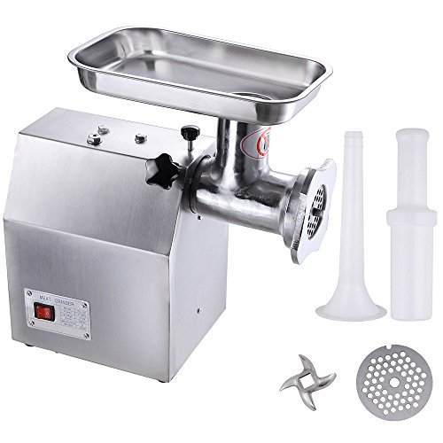 Yescom Commercial 1100W #22 Electric Stainless Steel Meat Grinder Sausage 440lbs/h (22 Meat Grinder Blade compare prices)