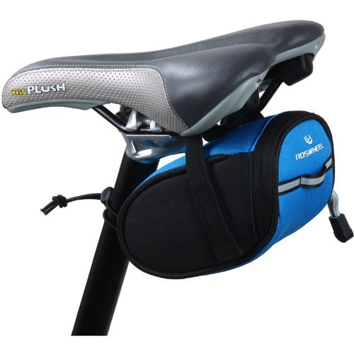 Roswheel Cycling Bicycle Bike Saddle Outdoor Pouch Back Seat Bag Blue front-9412