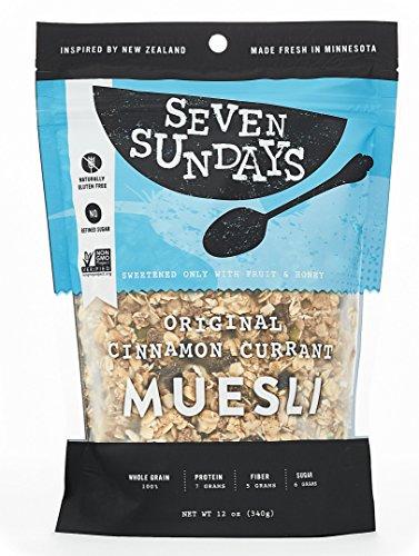 Seven Sundays Muesli - Original Toasted Cinnamon Currant- Non-GMO Certified, Gluten Free, Hot or Cold Breakfast Muesli {12 oz. pouches, 1 Count} (Gluten Free Muesli compare prices)