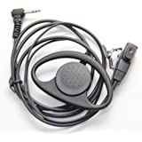 D Shape Earpiece Headset PTT Mic for 1-pin Motorola Talkabout Cobra Radio