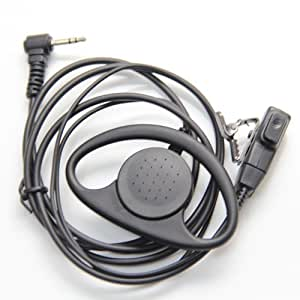 D Shape Earpiece Headset PTT Mic for 1-pin Motorola Talkabout Cobra Radio