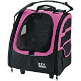 Pet Gear I-Go2 Traveler Roller Backpack for Cats and Dogs up to 20-Pounds, Pink