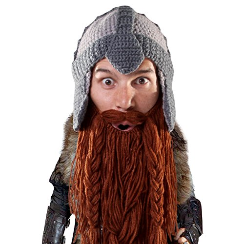 Beard Head® - The Original Barbarian Warrior Knit Beard Hat (Brown)