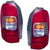 1997-2005 Chevy Venture Tail Light (1998 1999 2000 2001 2002 2003 2004 97 98 99 00 01 02 03 04 05) - One Pair(Both Driver and Passenger Sides) - DOT Certified Tail Light