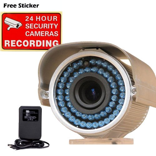 VideoSecu 540TVL Outdoor Infrared Day Night Home CCTV Security Camera 1/3