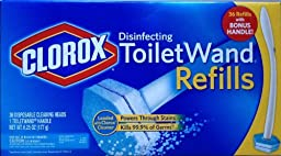 Clorox Toilet Wand Disinfecting Refills, 36 Ct Plus Bonus Handle by Clorox