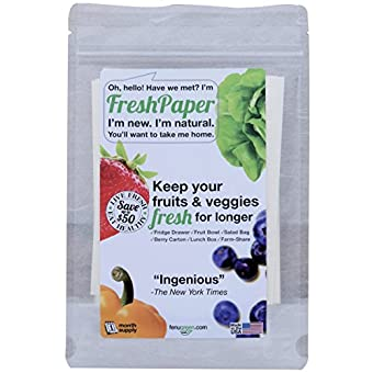 Fenugreen FreshPaper Produce Saver Sheets (Pack of 8 Sheets)