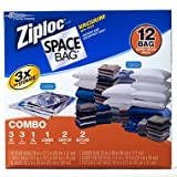 Ziploc 12 Space Saver Vacuum Seal Bags Super Value Pack