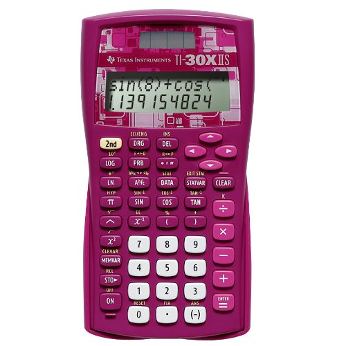 Texas Instrument TI-30X IIS Scientific Calculator Rose Pink Color