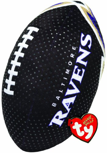 Ty Beanie Ballz NFL RZ Baltimore Ravens Football Plush