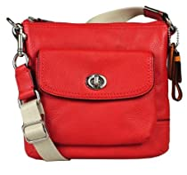 Coach 49170 Park Leather Swingpack Vermillion Red