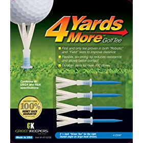 "New! 4 Yards More Golf Tee 4-pack - 3 1/4"" Blue"