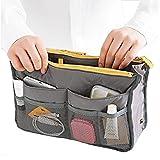 Tink Sky Portable Multi Function Nylon Bag In Bag Handbag Cosmetic Storage Bag Organizer Travel Bag Pouch (Dark Grey)