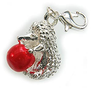 Dream Charms and Silver Jewellery Hedgehog Clip Charm