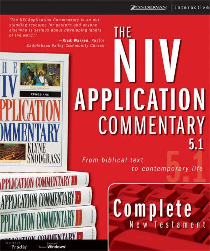 The New Testament NIV Application Commentary 5 1 for Windows NIV Application Commentary The310256356