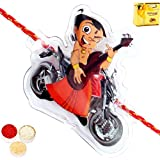 Rakhis Online - Chhota Bheem Bike Rakhi With Chocolate Gift Box