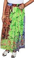 Femmes Indiennes Jupes Longues Sequins Longueur Cheville Inde Vêtements