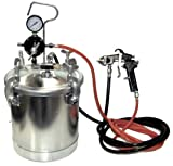 Pressure Tank Spray Gun with 1.5 mm Nozzle 2-1/2 Gal. Pressure Pot & Spray Gun with Hoses