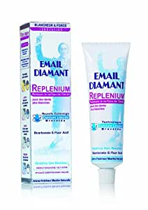 Email Diamant - 500326 - Dentifrice Blancheur - Replenium - Tube 75 ml - Lot de 2