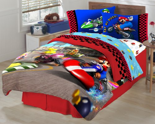 Super Mario The Race Is On Sheet Set, Twin front-581116