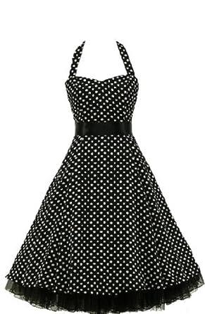 Rockabilly dress fifties vintage black petticoat,Size -S