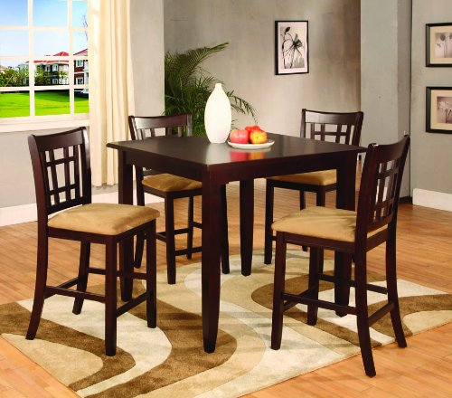 counter height 5 pc dining set dining room set